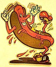 Vintage Original 1974 RoAcH Mini Hot Dog Man Iron On Transfer Super RARE!