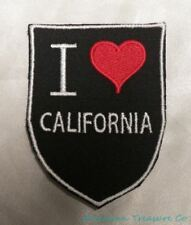 Embroidered Retro Vintage Style I Love California CA State Pride Patch Iron On