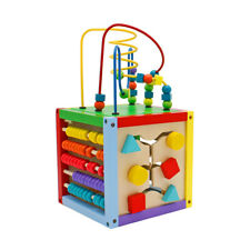 Activity Cube Toys Baby Educational Wooden Bead Maze Shape Sorter Toy Learning