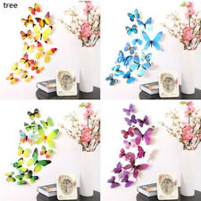 12pcs/set 3D DIY Butterfly Sticker Art Design Decal Wall Decals Kids Home Decor