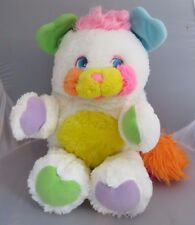 "Vintage 1986 80's TCFC Popples white Popple Bibsy 12"" POPPLES plush Toy"