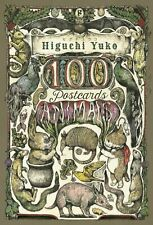 Higuchi Yuko Animals 100 Postcards with Original Booklet Illustration Collection
