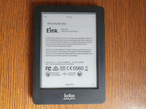 Kobo Glo (N613) - 2GB - 6inch Black Ebook Reader (USED + screen scratches)