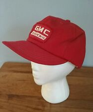 Vintage Old GMC Trucks Patch Snapback Hat Red Foam Lined NICE!