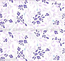 Purple Lavender Leaf Vine Laminate Vinyl Contact Paper Shelf Liner Peel Stick