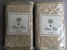 ROSE TREE Nadia TAN Beige EURO Pillow Shams Set of 2  NWT