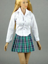 1/6 Scale Phicen, Hot Toys, Kumik & NT Female White Shirt & Green Skirt Set
