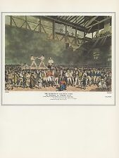 "1974 Vintage BOXING ""INTERIOR o/t FIVES COURT"" RANDALL vs. TURNER Art Lithograph"