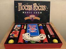 JUMBO Vintage Hocus Pocus Magic Show Set, 100 Tours Tricks 1988 - Excellent Con