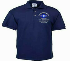 120TH FIGHTER WING*GREAT FALLS IAP*USAF ANG*EMBROIDERED LIGHTWEIGHT POLO SHIRT