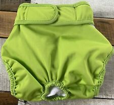 Teamoy~Washable Female Dog Diapers~Reusable Doggie Diaper Wrap~Large~Lime Green~
