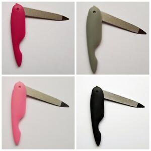 Nagelfeile  Klappnagelfeile klappbar einklappen Stahl Geschenk Idee rosa
