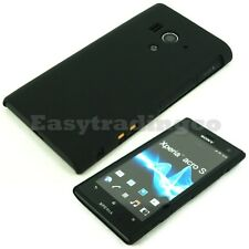 Black Hard Back Cover Case Sony Xperia Acro S LT26w