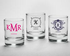 96 Personalized Shot Glass Votive Anniversary Birthday Bridal Wedding Favor