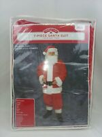 Holiday Time 7 Piece Santa Suit Christmas/Costume One Size Fits Most