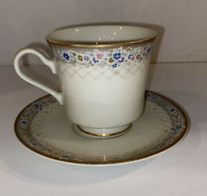 Vintage 1980's - Mikasa Grande Ivory Treillage China Cup And Saucer