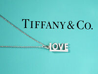 Tiffany & Co Sterling Silver Paloma Picasso Love Charm Pendant Necklace