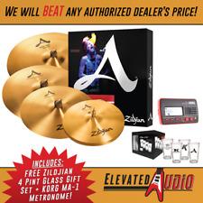"""A Zildjian A391 5-Pc Cymbal Set - 14""""HH, 16""""C, 18""""C, 21""""R + 2 FREE Gifts!"""