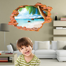 3D Wall Decal Sticker - Beach and Palm Tree