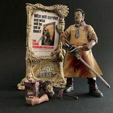 Movie Maniacs Texas Chainsaw Massacre Leatherface Figura Totalmente Completo