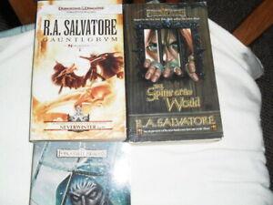 3 Forgotten Realms  PB Books Gauntlgrym Spine World Sea Swords Salvatore Fantasy