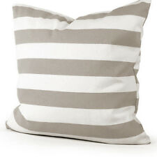 Grey and White Stripe Cotton Canvas Throw PillowCase Decor Cushion Cover 50x50cm