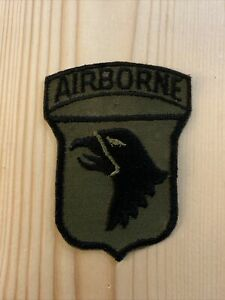 US Army 101st Airborne Eagle Vietnam Subdued Patch