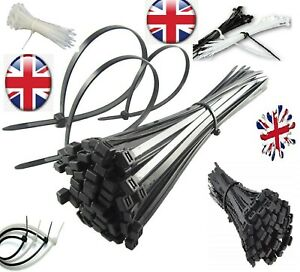 100-500 Cable ties,TOP QUALITY ,BLACK Cable Ties / Zip Wraps, cheapest IN UK.NEW