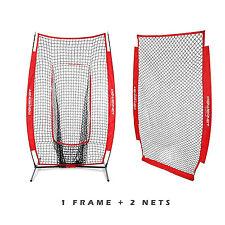 PowerNet I-Screen with Frame + Infielder Net Bundle Baseball/Softball Training