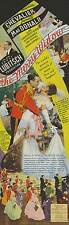 THE MERRY WIDOW Movie POSTER 22x30 Maurice Chevalier Jeanette MacDonald Edward