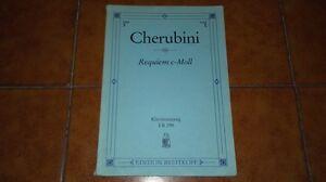 Cherubini : Requiem Do Mineur C Minor Partition Chante Plan Vocal Score