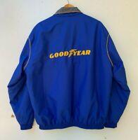 GOODYEAR Sunbuster vintage embroidered men's blue windbreaker jacket size XL