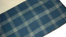 Ralph Lauren Americana Plaid King Bedskirt Blue & White Large Scale Plaid