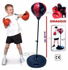 Sport E Viaggi Altri Sport Avento Junior Set Palla Da Box Nero/rosso Con Riflesso 41be Sport