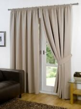 Pair Of90 Width X 90 Drop Luxury Faux Silk Eyelet Curtains Including Pair of