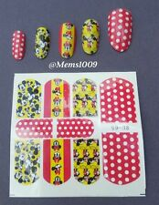 Mickey Mouse nail Art (water decals)  Mickey Mouse Nail wraps!