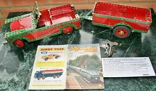 """Vintage MECCANO Construction Built Model of a """"LAND ROVER & TRAILER"""" from 1955"""