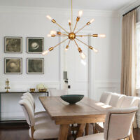 8/12 Light Modern Industrial Sputnik Ceiling Chandelier Pendant Lighting Fixture