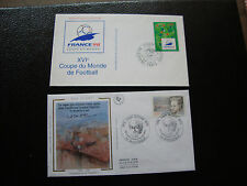 FRANCE - 2 enveloppes 1er jour 1995 (jean giono/football) (cy89) french