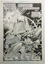 ORIGINAL ART SPLASH, WONDER WOMAN 71, PAGE 2, PARIS CULLINS, DC COMICS, 1993