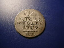 GERMAN STATES - SILVER -1789 1/24-THALER IN NICE CONDITION