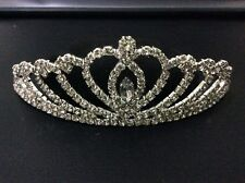 Wedding Bridal Crown Hair Comb Pin Tiara Alloy Rhinestone 098 (buy 2 get 1 free)
