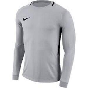 NWT Nike Youth Unisex L/S Dri-Fit Park Soccer Goalie Jersey Gray/Black Sz. M