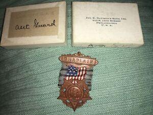 Antique 1866 GRAND ARMY OF THE REPUBLIC G.A.R CHAPLIN Medal Rare