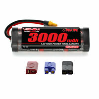 Venom 7.2V 3000mAh 6 Cell RC NiMH Battery with Deans EC3 Traxxas UNI Plug