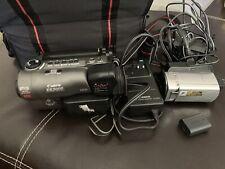 Sony DCR-SR45 Handycam Camcorder -  Black/Silver Canon ES3000 For Parts Bundle