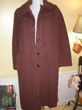 Vintage Ladies Garment Workers Union marroon coat large