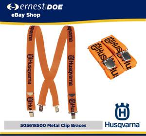 HUSQVARNA Metal Clip Braces 5056185-00 Husqvarna Orange - Genuine Husqvarna