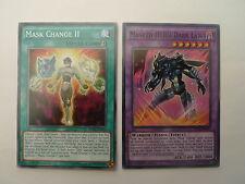 Masked Hero Dark Law + Mask Change II * 2 Card SDHS Set * Yu-gi-oh