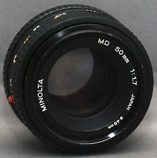 Minolta MD MC 50mm f1.7 Camera Prime Lens Japan
